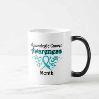 Gynecologic Cancer Awareness Month Tribal Ribbon Mug
