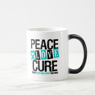 Gynecologic Cancer Awareness Peace Love Cure Coffee Mugs
