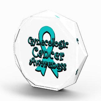Gynecologic Cancer Awareness Ribbon Acrylic Award
