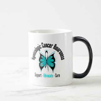 Gynecologic Cancer Awareness Ribbon Butterfly Mugs