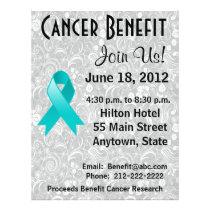 Gynecologic Cancer  Benefit Floral Flyer