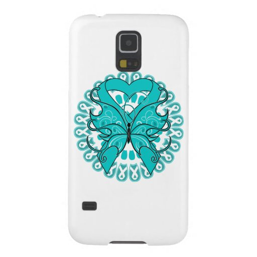 Gynecologic Cancer Butterfly Heart Ribbon Case For Galaxy S5