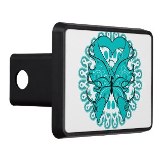 Gynecologic Cancer Butterfly Heart Ribbon Tow Hitch Covers