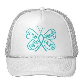 Gynecologic Cancer Butterfly Inspiring Words Trucker Hat