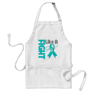 Gynecologic Cancer Chic Fight Like A Girl Ribbon Adult Apron