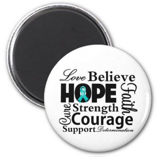 Gynecologic Cancer Collage of Hope 2 Inch Round Magnet
