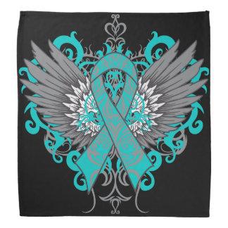 Gynecologic Cancer Cool Awareness Wings Bandana