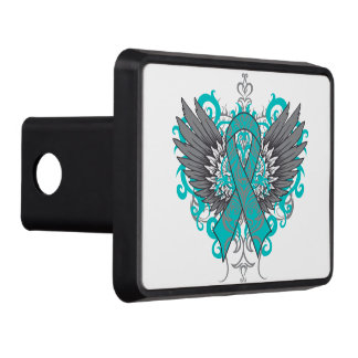 Gynecologic Cancer Cool Awareness Wings Hitch Covers