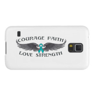 Gynecologic Cancer Courage Faith Wings Galaxy S5 Cases