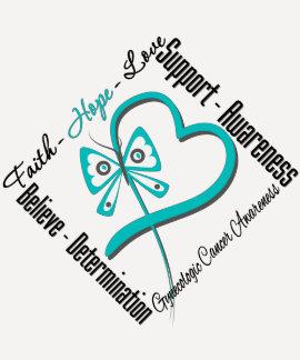 Gynecologic Cancer Faith Hope Love Butterfly Shirt