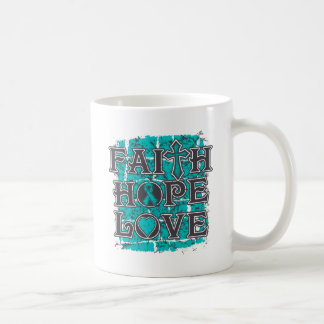 Gynecologic Cancer Faith Hope Love Classic White Coffee Mug