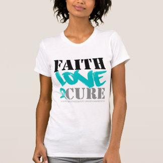 Gynecologic Cancer Faith Love Cure Shirt