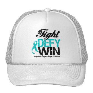 Gynecologic Cancer Fight Defy Win Trucker Hat