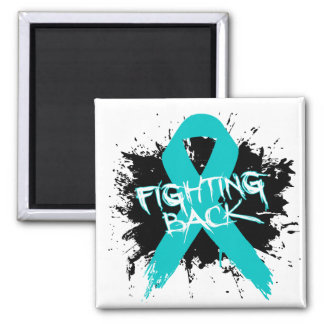 Gynecologic Cancer - Fighting Back 2 Inch Square Magnet