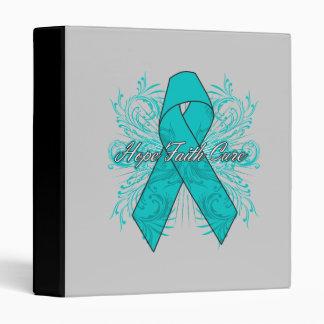Gynecologic Cancer Flourish Hope Faith Cure Vinyl Binder