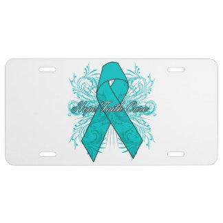 Gynecologic Cancer Flourish Hope Faith Cure License Plate