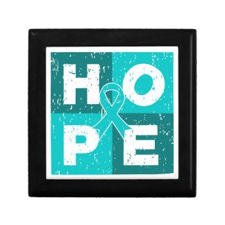 Gynecologic Cancer HOPE Cube Trinket Box