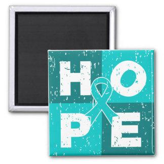 Gynecologic Cancer HOPE Cube Magnets