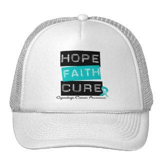 Gynecologic Cancer Hope FAITH Cure Trucker Hat