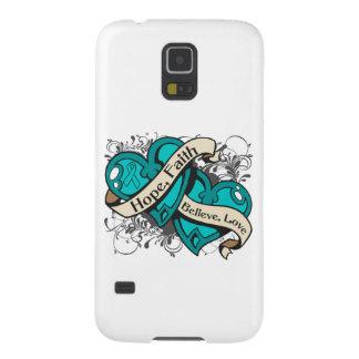 Gynecologic Cancer Hope Faith Dual Hearts Galaxy S5 Case