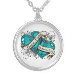 Gynecologic Cancer Hope Faith Dual Hearts Jewelry