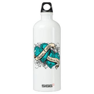 Gynecologic Cancer Hope Faith Dual Hearts SIGG Traveler 1.0L Water Bottle