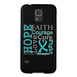Gynecologic Cancer Hope Faith Motto Galaxy S5 Cover