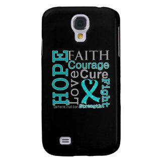 Gynecologic Cancer Hope Faith Motto Galaxy S4 Cases