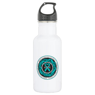 Gynecologic Cancer Hope Intertwined Ribbon 18oz Water Bottle