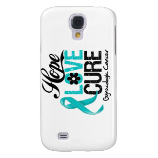Gynecologic Cancer Hope Love Cure Galaxy S4 Covers