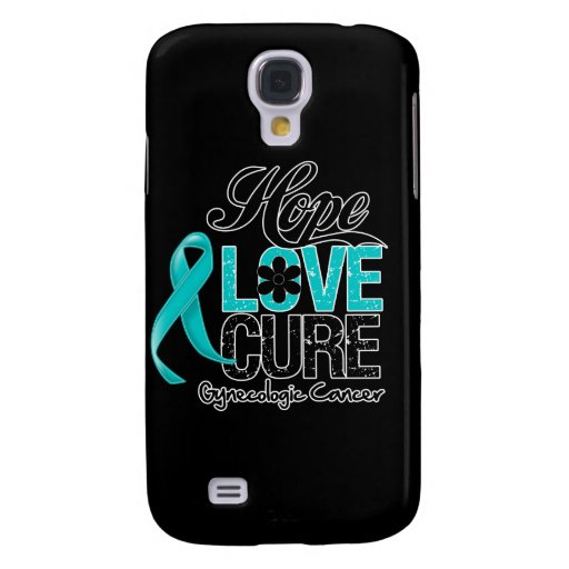 Gynecologic Cancer Hope Love Cure Samsung Galaxy S4 Case