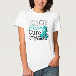 Gynecologic Cancer Hope Love Cure Tshirt