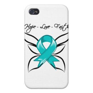 Gynecologic Cancer Hope Love Faith iPhone 4 Covers