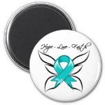 Gynecologic Cancer Hope Love Faith Refrigerator Magnets