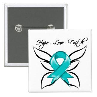 Gynecologic Cancer Hope Love Faith Pins