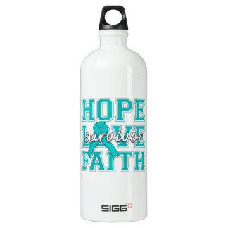 Gynecologic Cancer Hope Love Faith Survivor SIGG Traveler 1.0L Water Bottle