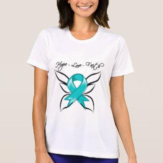 Gynecologic Cancer Hope Love Faith T-shirt