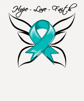 Gynecologic Cancer Hope Love Faith Tee Shirts