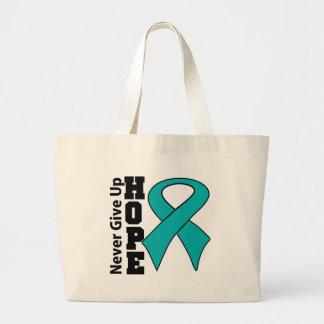 Gynecologic Cancer Hope Never Give Up Canvas Bag