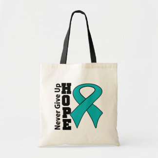 Gynecologic Cancer Hope Never Give Up Canvas Bags
