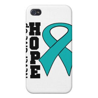 Gynecologic Cancer Hope Never Give Up iPhone 4 Case