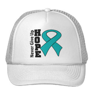 Gynecologic Cancer Hope Never Give Up Mesh Hats