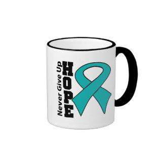 Gynecologic Cancer Hope Never Give Up Ringer Coffee Mug