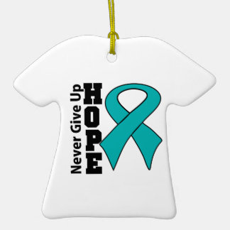 Gynecologic Cancer Hope Never Give Up Christmas Tree Ornament
