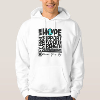 Gynecologic Cancer Hope Support Advocate Hooded Sweatshirt