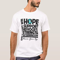 Gynecologic Cancer Hope Support Advocate T-Shirt