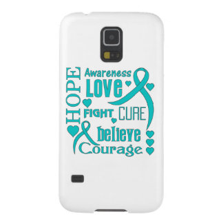 Gynecologic Cancer Hope Words Collage Galaxy S5 Case