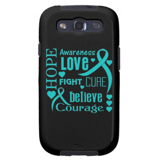 Gynecologic Cancer Hope Words Collage Samsung Galaxy SIII Cases