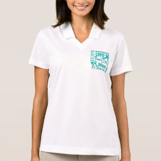 Gynecologic Cancer Hope Words Collage Polo T-shirt