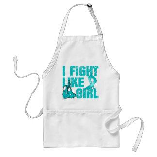 Gynecologic Cancer I Fight Like A Girl (Grunge) Adult Apron